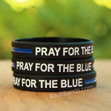 Quality Debossed Color Filled Bracelet 1 Uncle Thin Blue Line Wristband